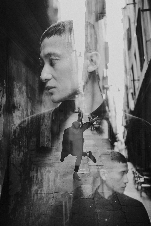 Portrait photographer Venice Italy - against gravity - Luka Mario